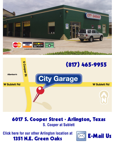 City Garage Arlington Texas